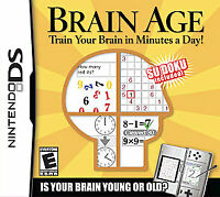 Brain Age: Train Your Brain in Minutes a Day (Nintendo DS, 2006) NEW AND SEALED!