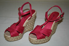 FREE SHIPPING American Eagle Womens 7 Pink Fuchsia High Heels Wedges Shoes NEW