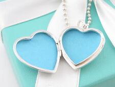 Auth Rare Tiffany & Co Silver Heart Key Locket Necklace 24 Inch Bead Chain