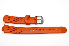 NIKE TRIAX 10 ORANGE REPLACEMENT RUBBER WATCH BAND WRS006