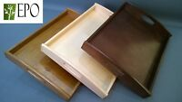 40cm x 30cm WOODEN BREAKFAST SERVING BED TRAY WITH HANDLES
