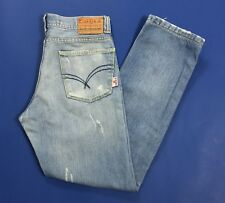 Over d jeans uomo usato size w32 tg 46 denim boyfriend destroyed slim blu T3055