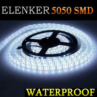 5m SMD 5050 Cool White 300 LED Flexible Light Strip Waterproof IP65 DC12V 6500K