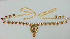Indian Jaipuri Jewelry Belly Dance Gold Plated Kundan Waist Band Belt Chain