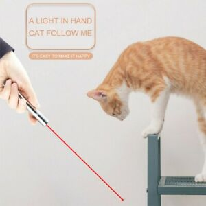 LED LASER PET CAT TOY USB RECHARGEABLE TRAINING TOY INTERACTIVE PEN POINTER