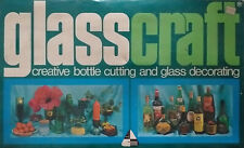 Extremely rare, vintage ca.1970s glass art kit with bottle-cutter & accessories