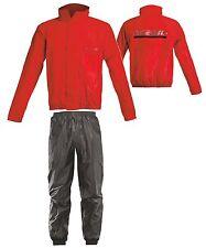TUTA ANTIPIOGGIA IMPERMEABILE MOTO ACERBIS LOGO RAIN ROSSO RED TG XL