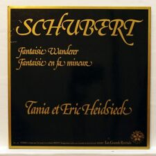 TANIA & ERIC HEIDSIECK - SCHUBERT wanderer fantasy, fantasy CASSIOPEE LP EX