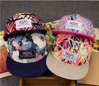 Fashion Men's Snapback Adjustable Baseball Cap Hip Hop hat Cool Floral Print
