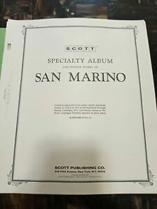 MD SAN MARINO stamps collection on SCOTT pages 40 Pictures
