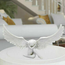 Retro Harz Engel  Figur 3D Skulptur Desktop Dekoration Accs Kunstwerk