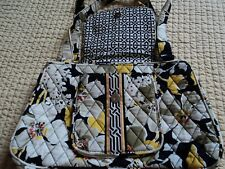 VERA BRADLEY handbag purse - Bowler Style - DOGWOOD - Black/Yellow/White