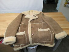 ✰RUGGED✰ SCHOTT RANCHER SHEEPSKIN SHEARLING COAT JACKET CLASSIC EXCELLENT Sz 46