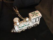 Lenox Christmas Ornament Porcelain Train Year 2000 Gold Trim Box