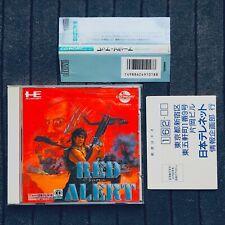 Red Alert PC Engine CD ROM PCE Nec Japan w/Obi Hagaki Spine Reg Card