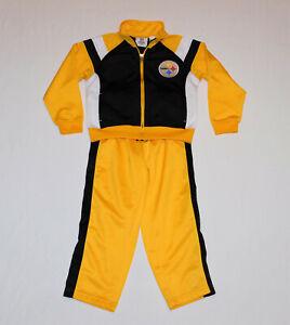 Pittsburgh Steelers Kids Jumpsuit Track Jacket & Pants Set Football Size 4T NEW