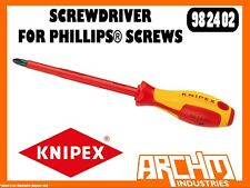 KNIPEX 982402 - SCREWDRIVER FOR PHILLIPS® SCREWS - 212MM - PH 2 - 1000 VDE