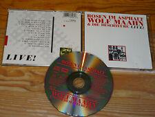 WOLF MAAHN - ROSEN IM ASPHALT LIVE / WEST-GERMANY-CD 1986
