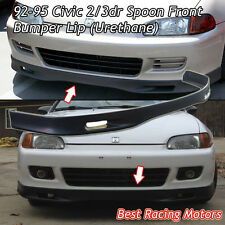 SPN Style Front Bumper Lip (Urethane) Fits 92-95 Honda Civic 2dr