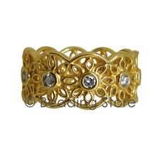 NEW Pandora Golden Radiance 14k Gold Diamond Ring RRP$2199 Sz 55 150164D Genuine