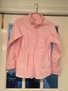 Boys Lands End Pink Button Down Shirt Size M 10-12