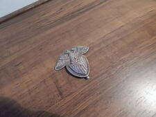 RARE SPANISH AMERICAN WAR SILVER EAGLE W SHIELD OFFICER'S HAT BADGE INTRNTL SALE