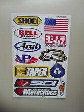 12 Sticker Adhesivo en arco racing Arai yoshimura Bell búsqueda automática motorcross