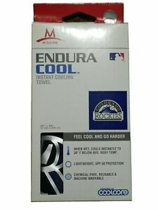 """MISSION EnduraCool Instant Cooling Towel Colorado Rockies 12"""" x 33""""Polyester V4"""