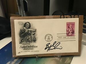 L@@K NICE BROOKE HENDERSON AUTO BABE ZAHARIAS FIRST DAY ISSUE AUTOGRAPH