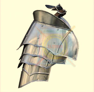Medieval Steel Warrior Pauldron Set, Knight Armor Shoulder Guard Set (of 2)