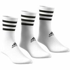 Adidas Sports 3-Stripes Cushioned Crew Socks 3 Pairs - Unisex - White