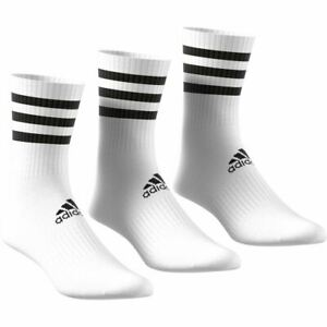 Adidas Sports 3-Stripes Cushioned Crew Socks 3 Pairs - Unisex - White