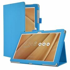 Slim Folio Leather Cover Case for ASUS ZenPad 10 Blue G5k4