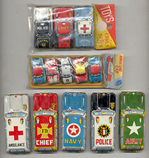 LOT OF 13 CUTE VINTAGE JAPAN TIN TOYS CARS 60' s VERY CUTE SET