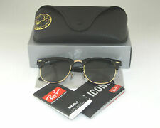 RayBan RB3016 Clubmaster Sunglasses Black Frame/Green Classic Glass Lens 51mm