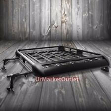 "50""x38"" Black Aluminum Roof Rack Cargo Luggage Carrier Bracket+Crossbar For SUV"