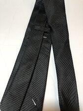David Donahue Black Silk Tie Necktie Men