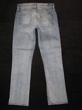 7 For All Mankind Jeans Womens Modern Straight Leg Ankle Distressed Sz 27  $198