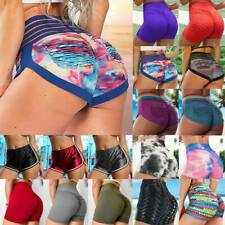 UK Womens High Waist Yoga Shorts Push Up Scrunch Sports Fitness Casual Hot Pants