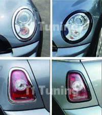 MINI Cooper R55 R56 R57 R58 R59 Headlight+Taillight Surround Rims-Gloss Black