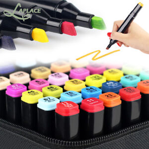 80 Colors Dual Tip Twin Marker Pens Set Artist Sketch For COPIC Markers Drawing