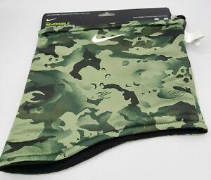 Nike Reversible Neck Warmer Gaiter 2.0 Black Green Camo Adult Unisex