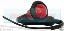 "12V/24V RED SMALL 1"" ROUND LED BUTTON REAR MARKER LAMP/LIGHT UNIVERSAL TRUCK CAR"