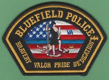 BLUEFIELD VIRGINIA POLICE SHOULDER PATCH