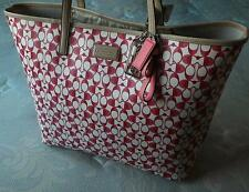 NWT COACH XL METRO PARK DREAM C CARRYALL TRAVEL TOTE BAG IN POMEGRANTE RED WOW!