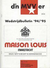 Programma MVV- PSV 1994-1995