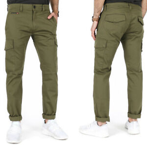 Diesel Mens Slim Fit Stretch Cargo Jeans Pants Chino - Olive Green - Chi-Thommer