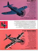 1965 PAPER AD 5 PG Wen Mac .049 Gas Engine Airplanes Navy SBD 5 Kingcobra P-63 +