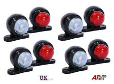 8 Red White Corner Side Marker LED Lights Outline Lamp Truck Trailer Van Bus 12V