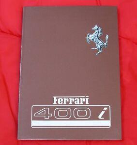 Ferrari 400i - Very RARE Original Owners Handbook - 1983 to 85, Ita/Fra/Eng Text
